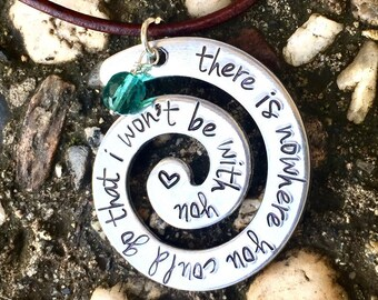 Moana Necklace, Moana Jewelry , Moana Birthday Gifts, There is nowhere you could go that I won't be with you, The Ocean Is A Friend Of Mine,