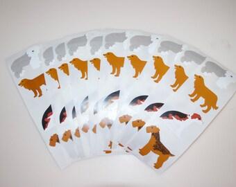 Mrs. Grossman's Vintage Dog Sticker Stickers Lot of 10 Strips
