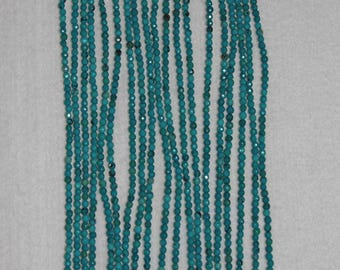 Turquoise, Turquoise Bead, Faceted Bead, Natural Turquoise, Blue Green Bead, Semi Precious, Natural Stone, Full Strand, 3 mm, AdrianasBeads