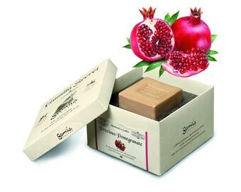 Pomegranate Soap, Handmade Soap Bar, Cleansing Bar, Facial Soap, Natural Soap, Gamila Secret, Body Soap, Skin Care, Bar Soap, Healing Soap