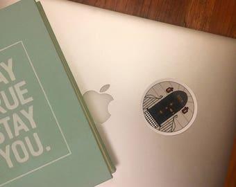 221B Vinyl Laptop Sticker