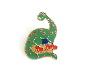 Dinosaur lapel pin, dinosaur backpack badge, dinosaur enamel pin,dinosaur lapel pin, jurassic pins,jurassic animals,enamel pin, diplodocus