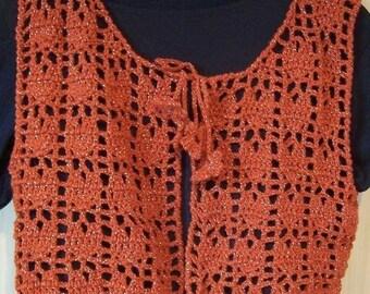 Sleeveless style folk vest