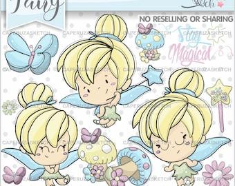 Fairy Clipart, Fairy Graphics, Spring Fairy Clipart, Spring Fairy Graphics, COMMERCIAL USE, Handrawn Clipart, Hand Drawn, Princess Clipart