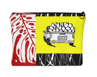 Carry All Pouch in Bright Tropical Miami Print