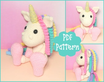 Unicorn Crochet Pattern, Unicorn Amigurumi, Amigurumi Pattern, Unicorn Plush, Unicorn Plushie, Unicorn Toy, Crochet Toy,