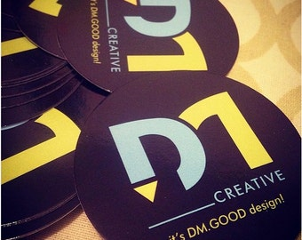 """250 round hang tags or business cards - 6"""" custom printed  full color circles - 14 PT glossy or 16PT dull cover matte stock"""