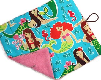 Mermaid marble maze game Level 1 or 2, roll up fabric maze, sensory toy, toddlers gift, child gift, autism, quiet play, girl party favor
