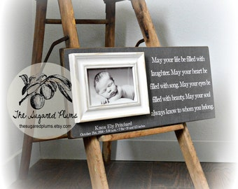 Picture Frame, Baptism Gift For Godchild, Irish Blessing, May Your Life Be Filled, 8x20 The Sugared Plums Frames