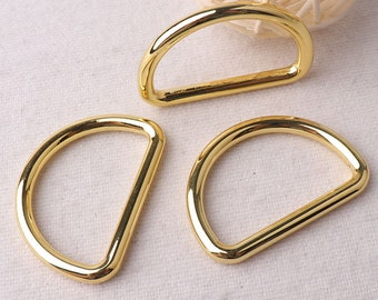 "1 3/8""(35mm),2 pcs,Gold D Rings buckles for webbing Purse Bag Handbag Dog Collar Handbag Hardware (DRi-13)"