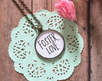 Foster Love,Foster Care,Pet Foster Parent,Foster Mom Gift,Mom Daughter Jewelry,Adoption Jewelry,Foster Necklace,Quote Necklace