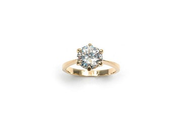 OZ gold plated solitaire ring