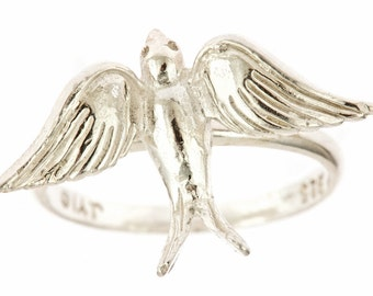 Large Swallow Sterling Silver Ring