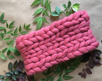 SALE! Scarf, Winter Scarf, Infinity Scarf, Thick Wool Scarf, Knitted scarf, bulky scarf, Merino wool scarf, Chunky knit scarf, Pink Gift