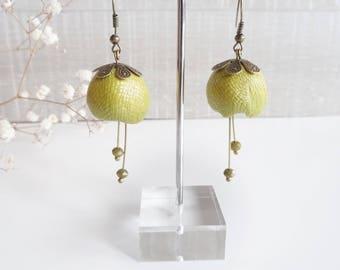Earrings petals Flower earrings