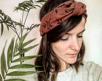 Bohemian headband / trendy / spring / Beach / botanical / vegetable / headband made of linen