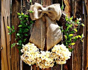 Rustic Garden Wreath - floral wreath - Wreaths - Door Wreath - Year Round Wreath - Grapevine Wreath -
