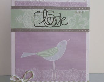 Card all occasions - friendship and love - bird