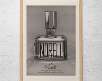 NORELL PERFUME AD - Vintage Perfume Ad - Designer Fashion Ad fashion Lover Wall Art Walk-In Closet Wall Art Bedroom Art Bathroom Poster