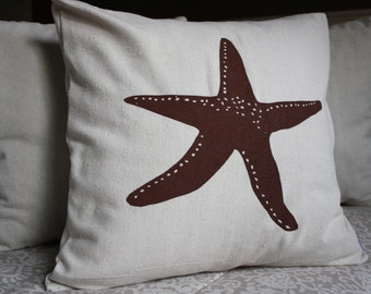 Starfish Screened Pillow Cover