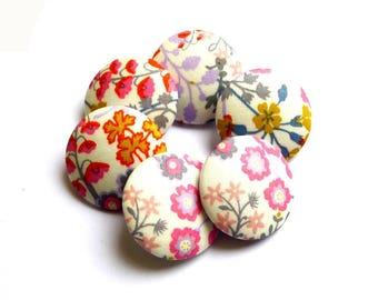 Buttons liberty Primula Blossom B X 6 size optional