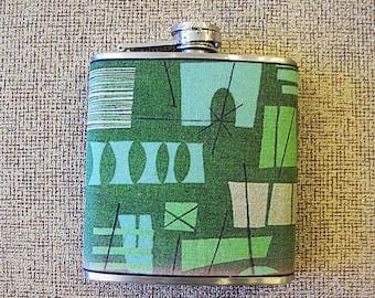 retro atomic flask 1950s era rockabilly pin up girl kitsch vintage mid century tiki