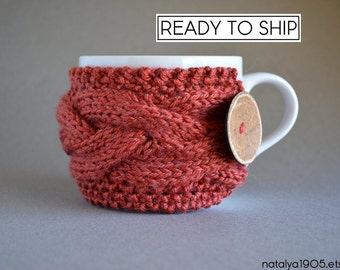 Coffee Cozy, Coffee Cup Sleeve, Coffee Cup Cozy, Coffee Mug Cozy, Knit Coffee Sleeve, Tea Cozy, Coffee Gifts, Knit Cup Cozy, Hygge Decor