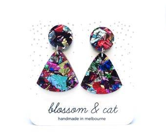 Glitter Tassel Earring · Multicolour Glitter Earring · Drop Earring · Tassel Shaped Earring · Tassel Earring