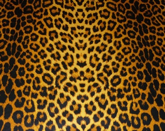 """Leather 5""""x11"""" OCHRE Large CHEETAH / Leopard Print Cowhide NOT Hair-On #368 2-2.5 oz / .8-1 mm PeggySueAlso™ E1650-04"""