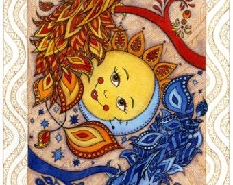 Carpe Diem, Carpe Noctem | Original Illustration of Firebirds