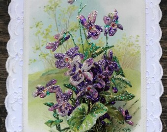 Vintage Postcard Greeting Card