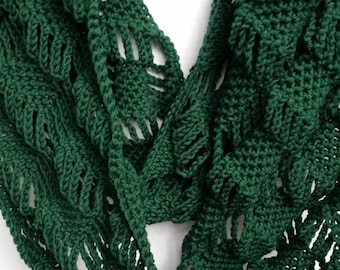 10.00 OFF Scarf Infinity Cowl - Scarves for Women, Crochet Scarf,(As Seen on Stephanie Drapeau), Gifts for Her, Handmade Scarf, Circle Scarf
