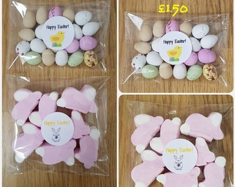 Easter Treats mini eggs marshmallows Easter bunnies