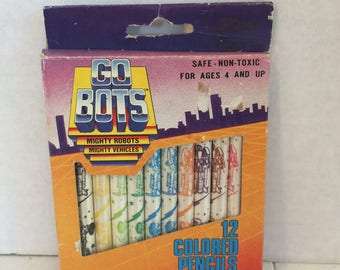 12 Pack of GO Bots Colored Pencils, Go Bots Colored pencils