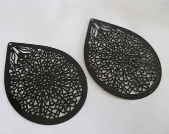 drop 2 prints black 49 x 32 mm