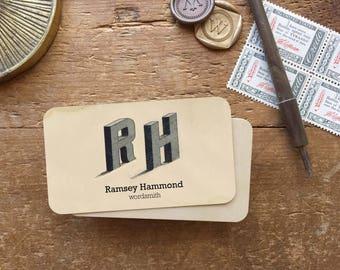 Business Card, Calling Cards, Custom Business Cards, Monogram Stationery, Custom Logo, Personalized Stationery, Monogram Gift, Monogram
