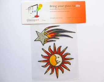 Sky Stickers : Glassyart Suncatcher Clings