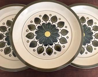 Side plates Montego stoneware japan vintage retro boho flower power design