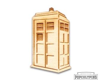 Doctor Who TARDIS Pin - Dr. Who The TARDIS inspired wood pin. DW