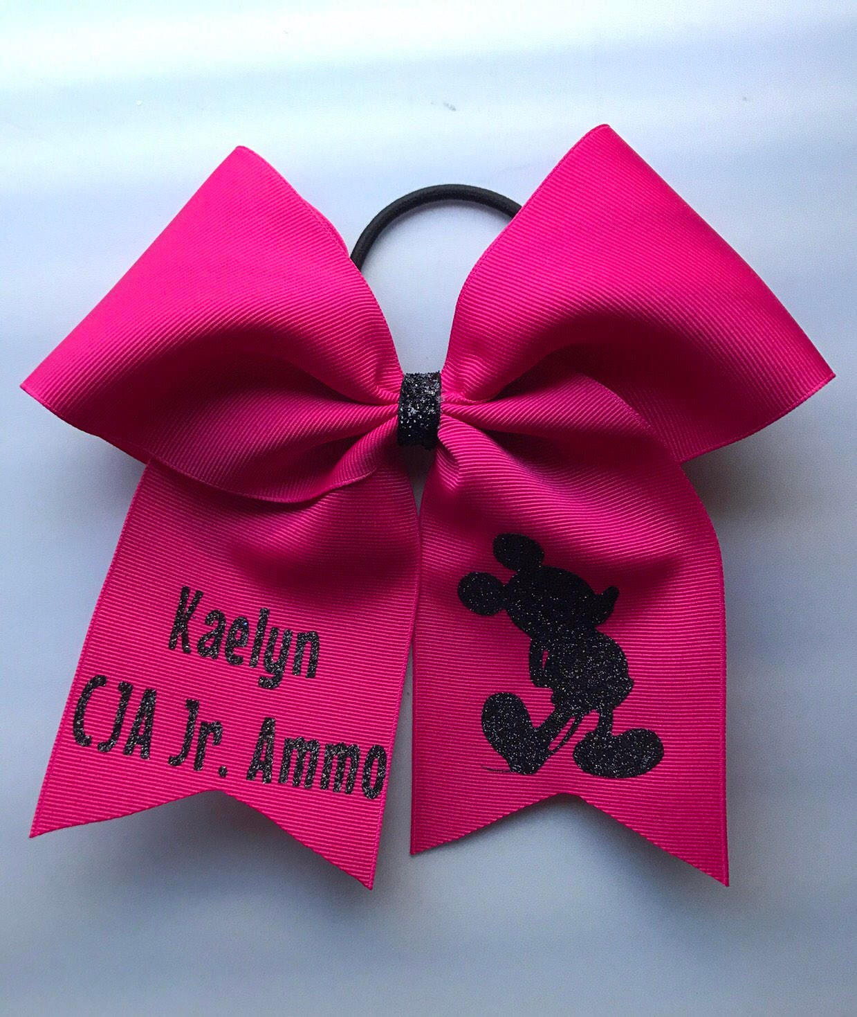 Personalized Hair Bows/ Personalized Mickey Mouse Mouse