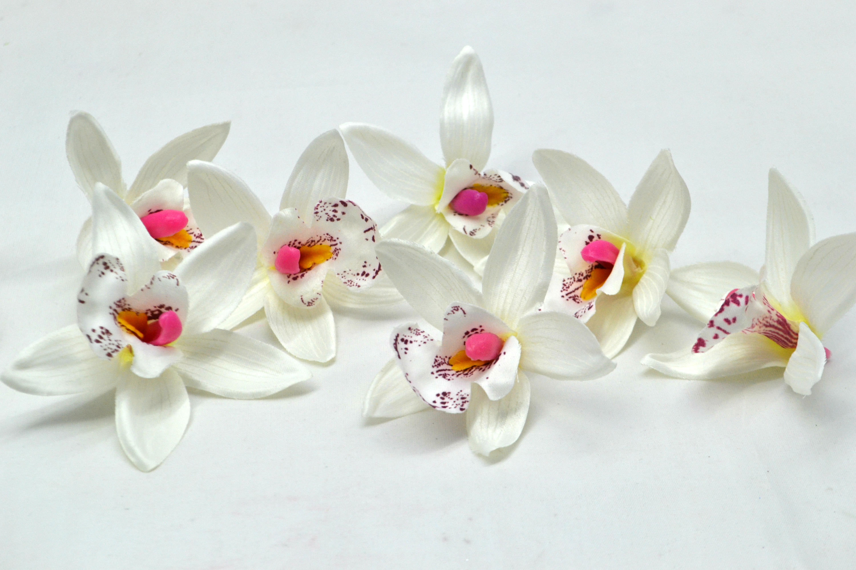 Artificial Orchid Beach Wedding Tropical Decor White Orchid
