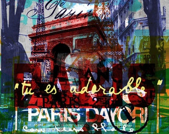 PARIS III by Sven Pfrommer - 140x70cm Artwork is ready to hang