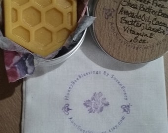 Honeycomb Lotion Bar, Organic Ingredients, Honey Bee Blessings L2