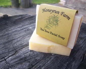 Tea Tree Facial Soap - made with honey and beeswax
