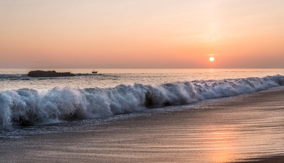 DORSET SUNSET. Seascape Print, Dorset Coast, Sunset Picture, Jurassic Coast, Photographic Print