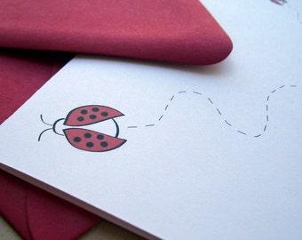 Folded Cards Set - Ladybug