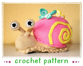 Snail - Doorstop, Stuffed Toy - Crochet Pattern