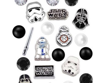 Star Wars Floating Charms 4.5mm Czech Crystals