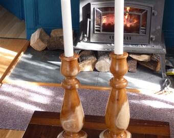 Yew Candle Sticks