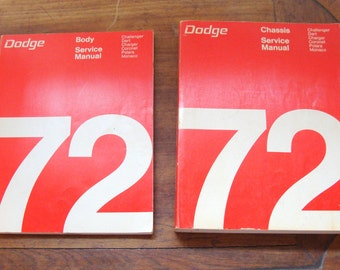 Original 1972 Dodge Body and Dodge Chassis Service Manuals, Originals in Near Mint Condition